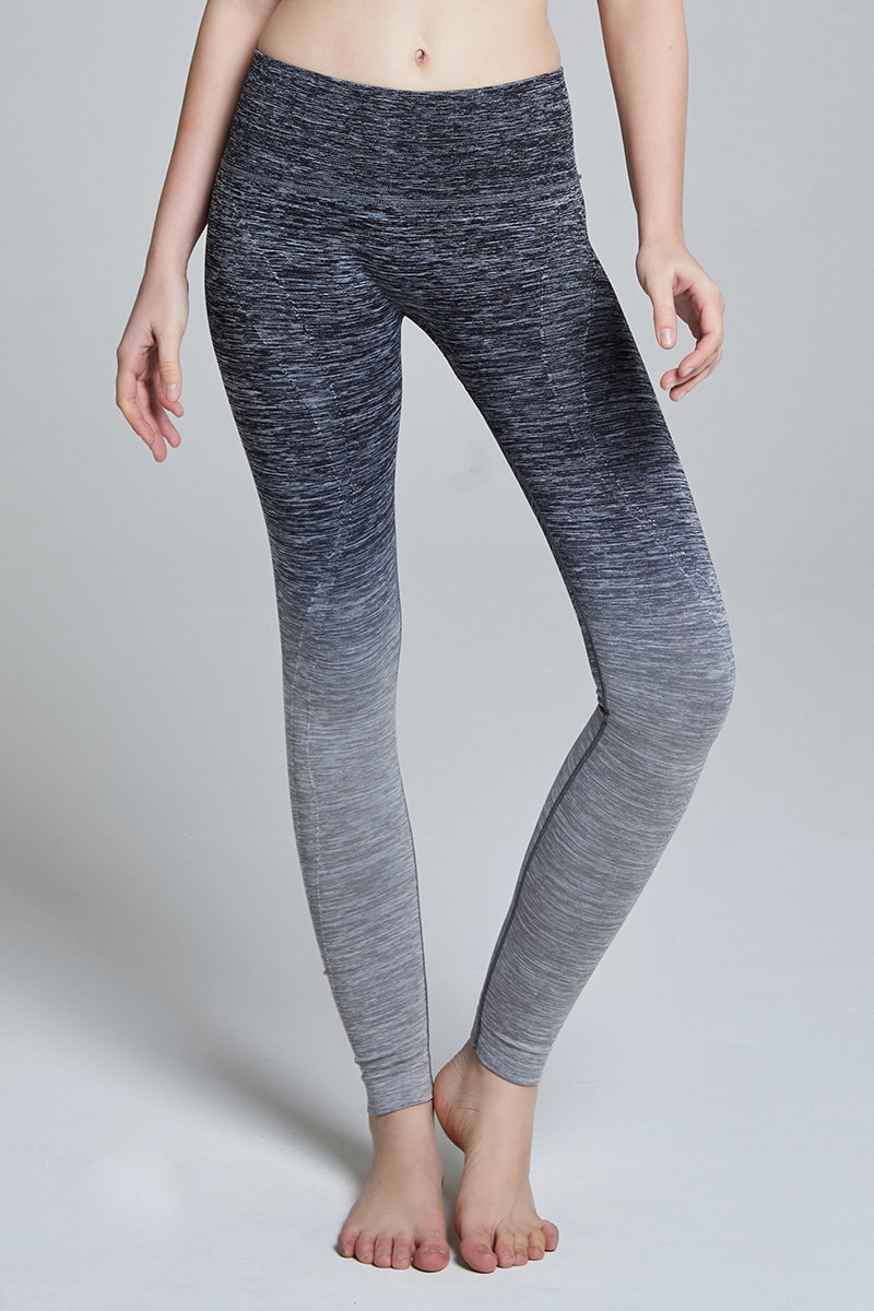 L704 Leggings long BLACK GRAY
